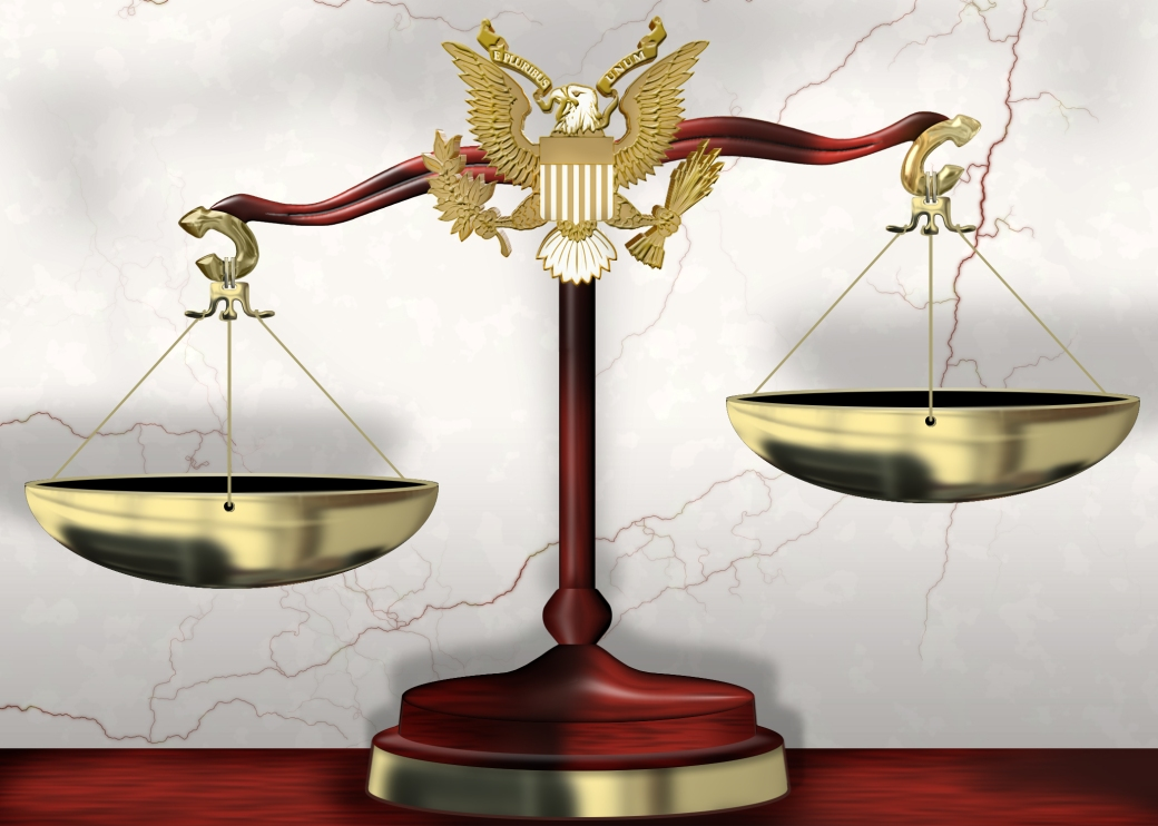 Scales of justice should be balanced with evidence