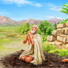 Job prays to God